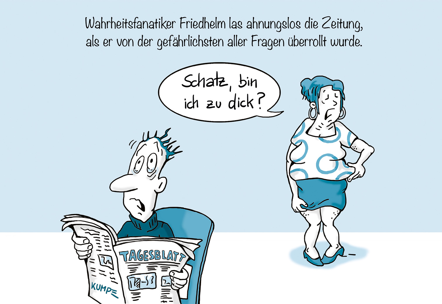 Bin ich zu dick Cartoon