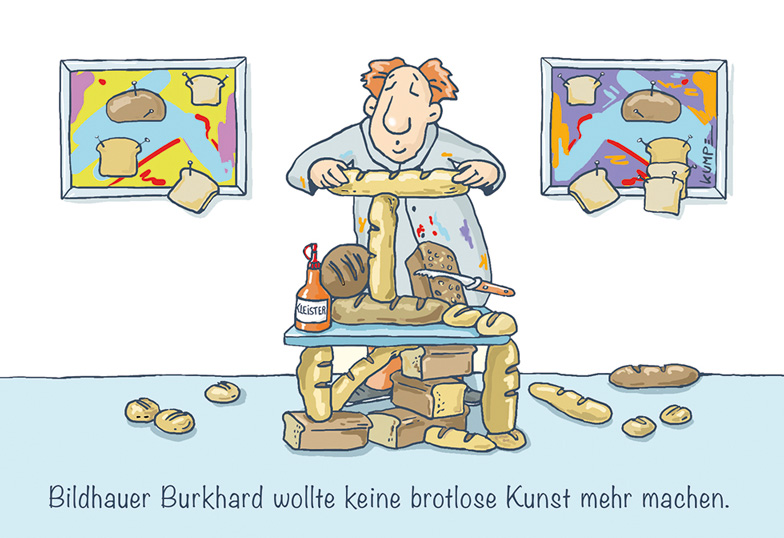 Brotlose Kunst Cartoon