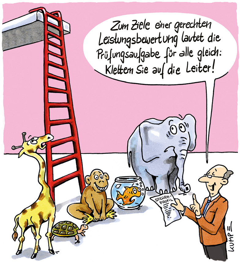 Chancengleichheit Cartoon