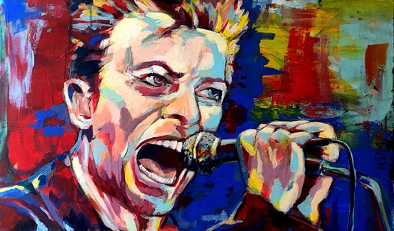 David Bowie Acryl 60 x 90 cm