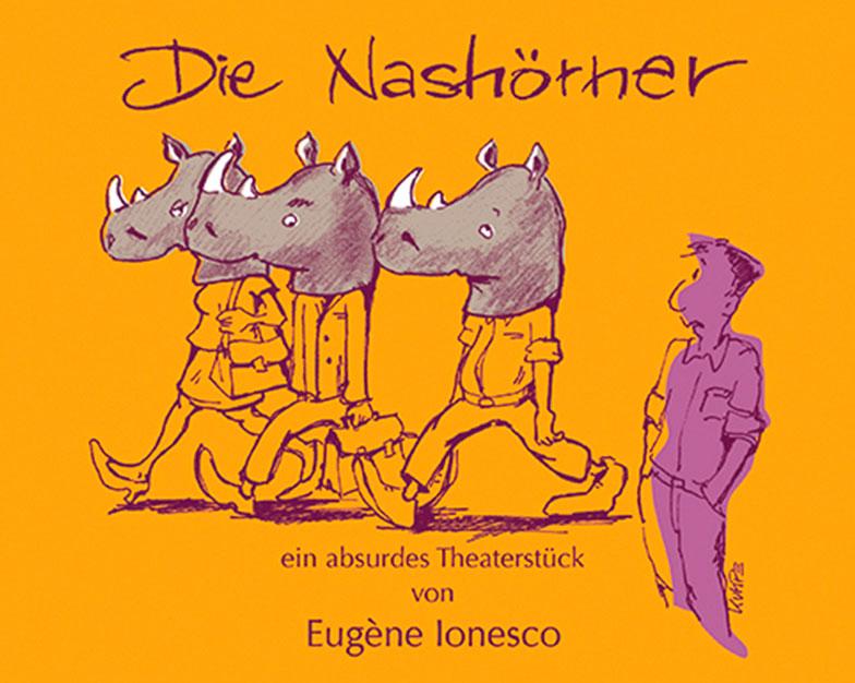Die Nashoerner Ionesco Covervorschlag