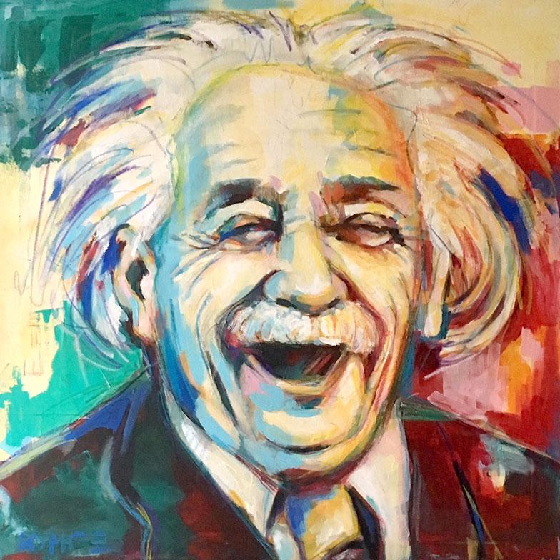 Einstein Acryl 80 x 80 cm