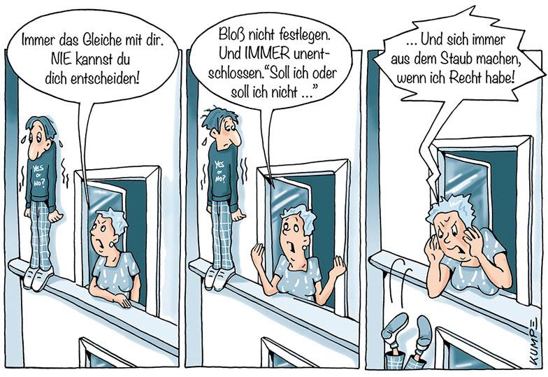 Entscheidung Cartoon