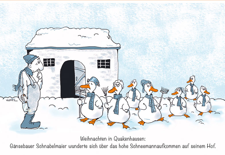 Gänsebauer Cartoon