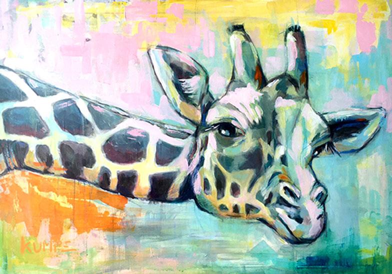 Giraffe Acryl 70 x 100 cm