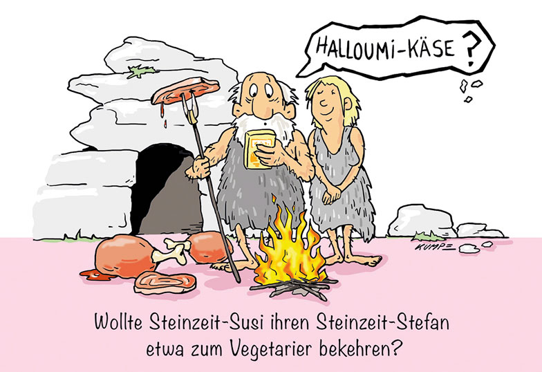 Halloumikaese Cartoon
