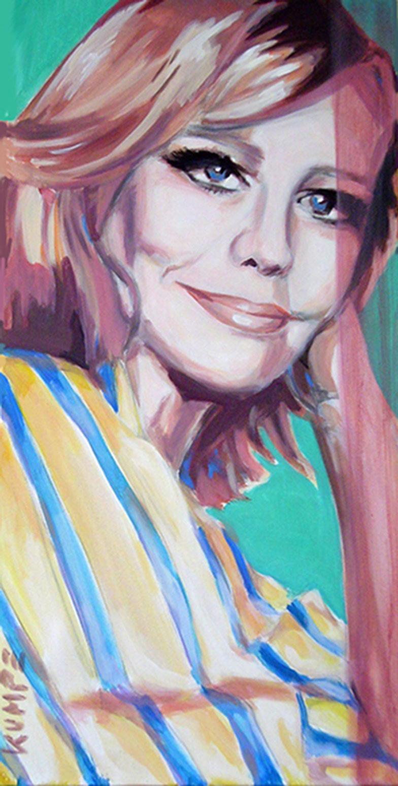 Hildegard Knef Acryl 100 x 50 cm