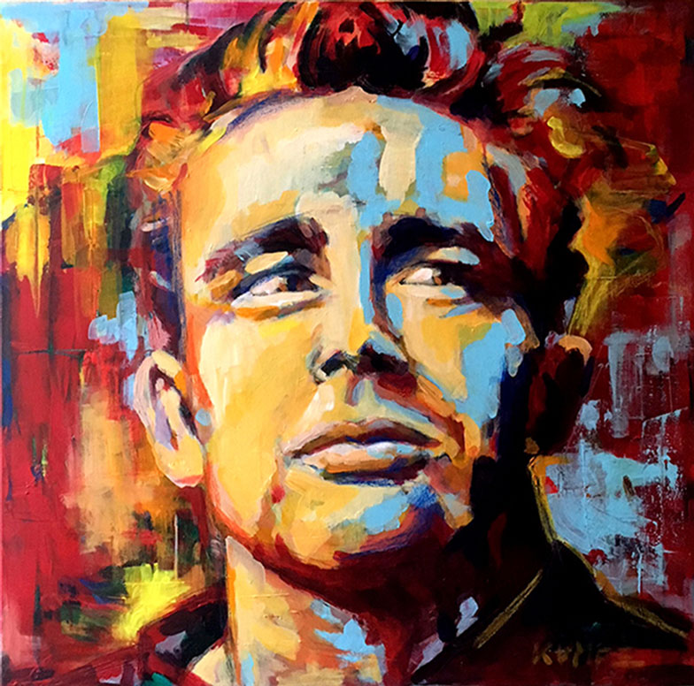 James Dean Acryl 80 x 80 cm