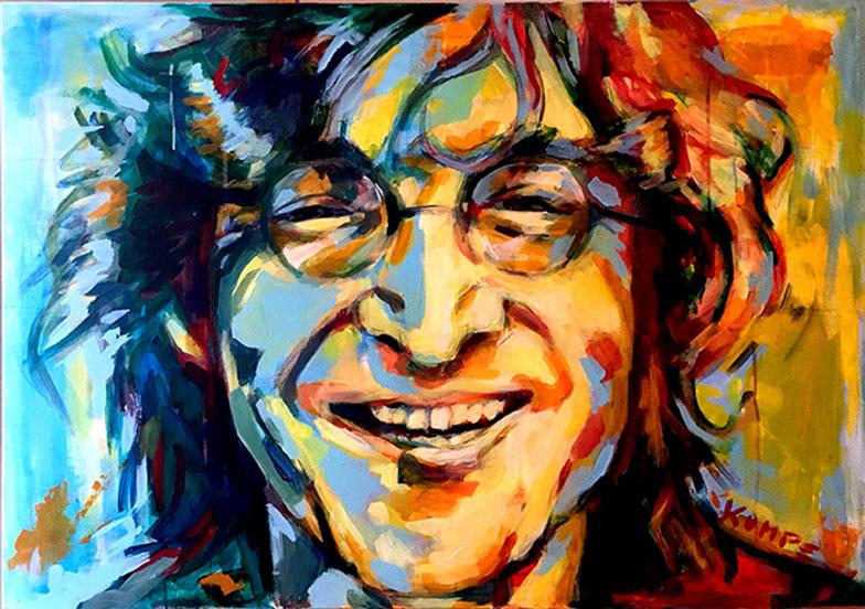 John Lennon Acryl 70 x 100 cm