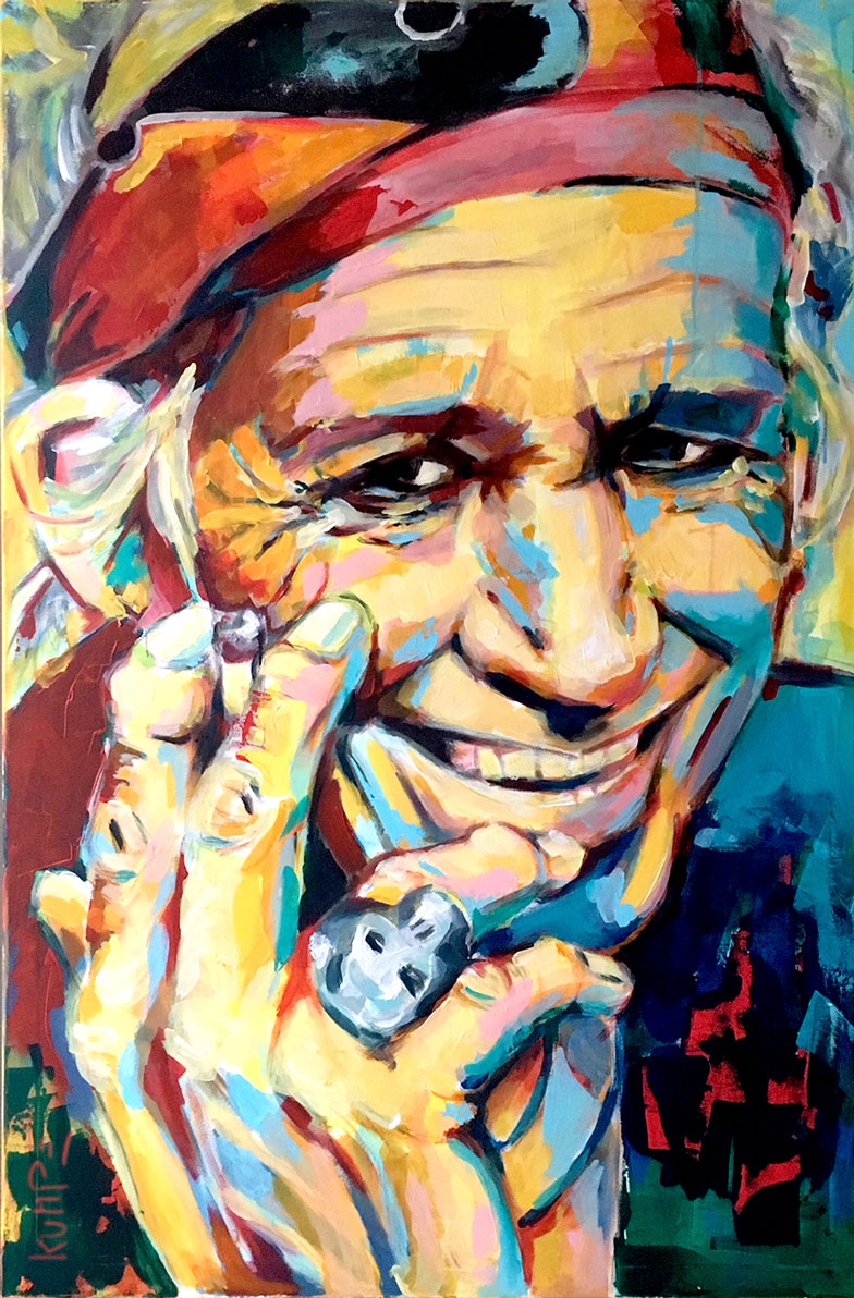 Keith Richards Acryl 120 x 80 cm