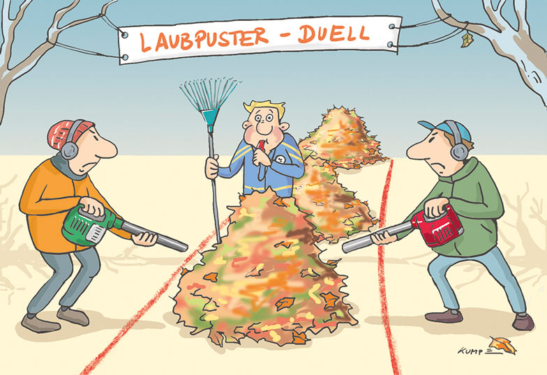 Laubpuster Cartoon