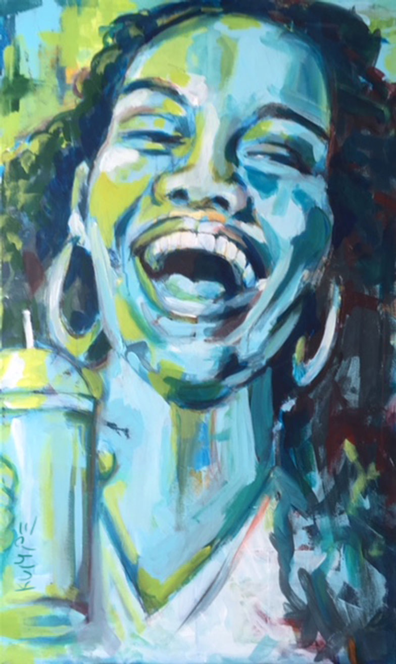Laughing Beauty 3 Acryl 90 x 60 cm