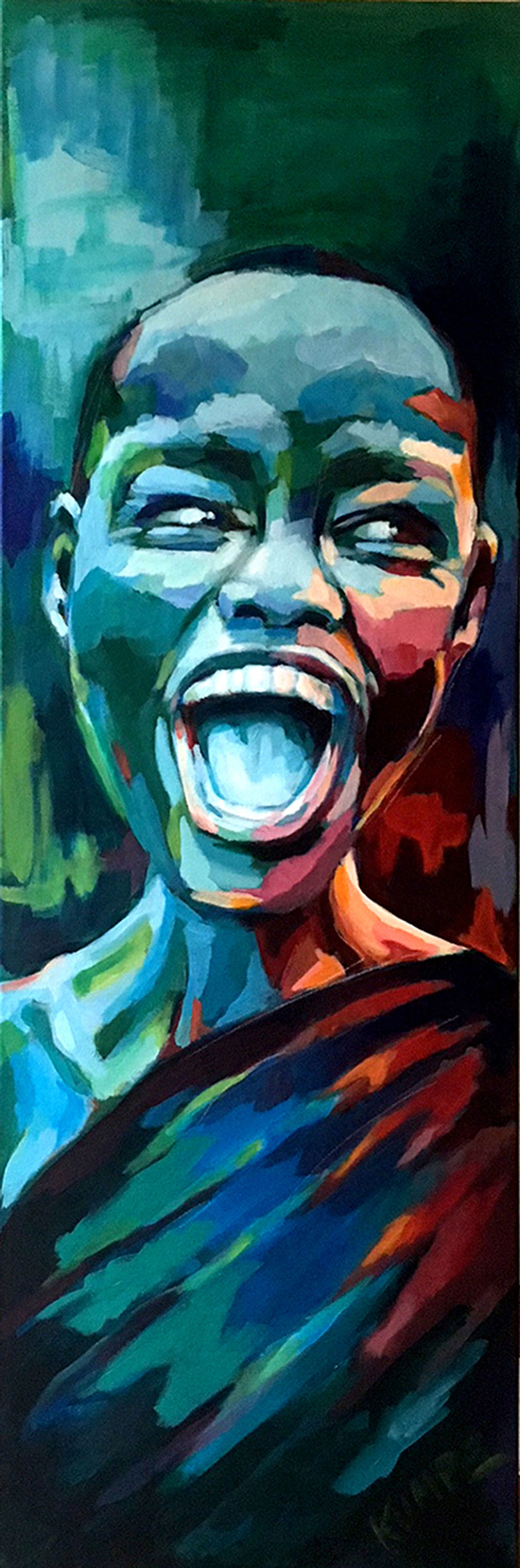Laughing Beauty 2 Acryl 120 x 40 cm