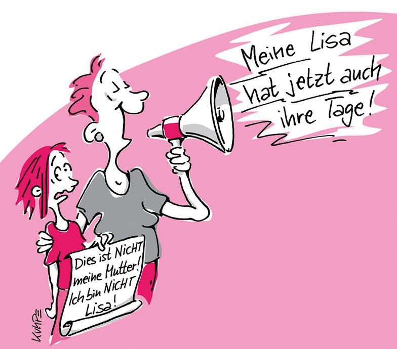 Lisas Tage Cartoon