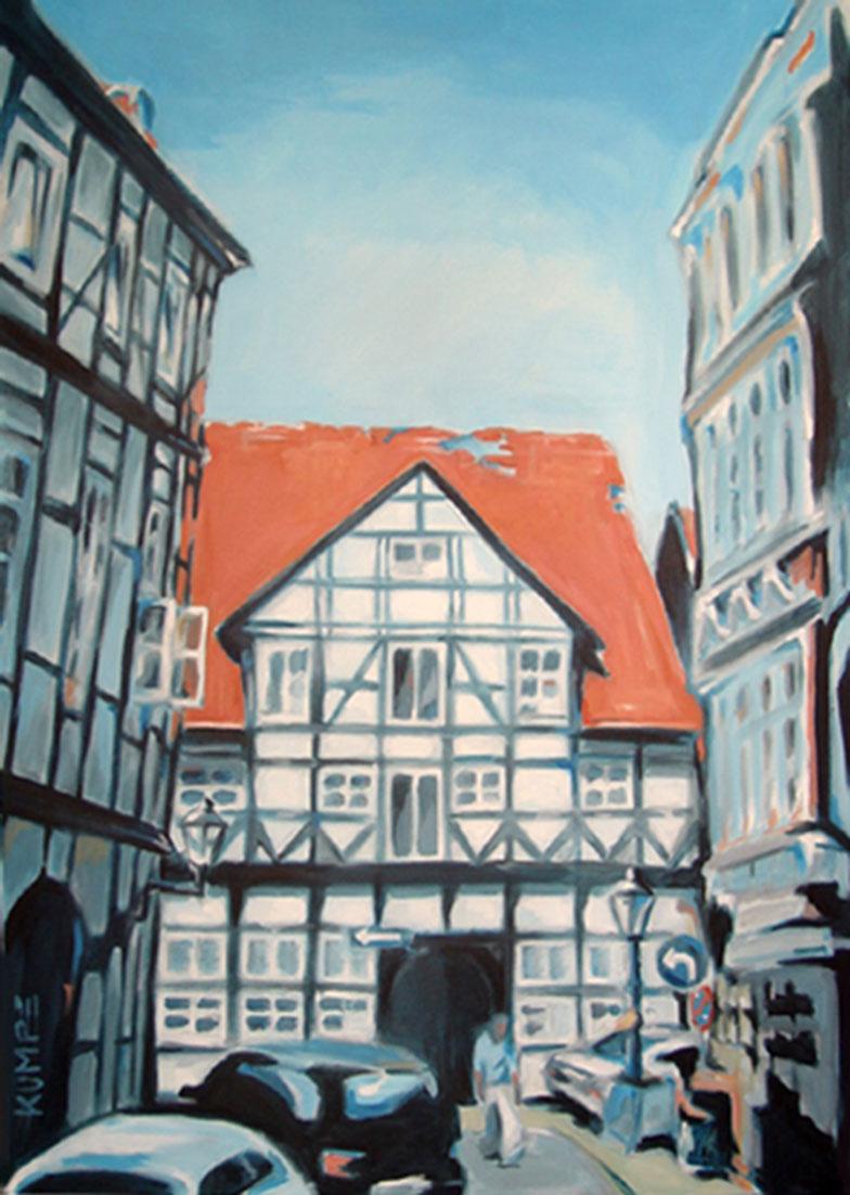 Magniviertel Braunschweig 2 Acryl 100 x 70 cm