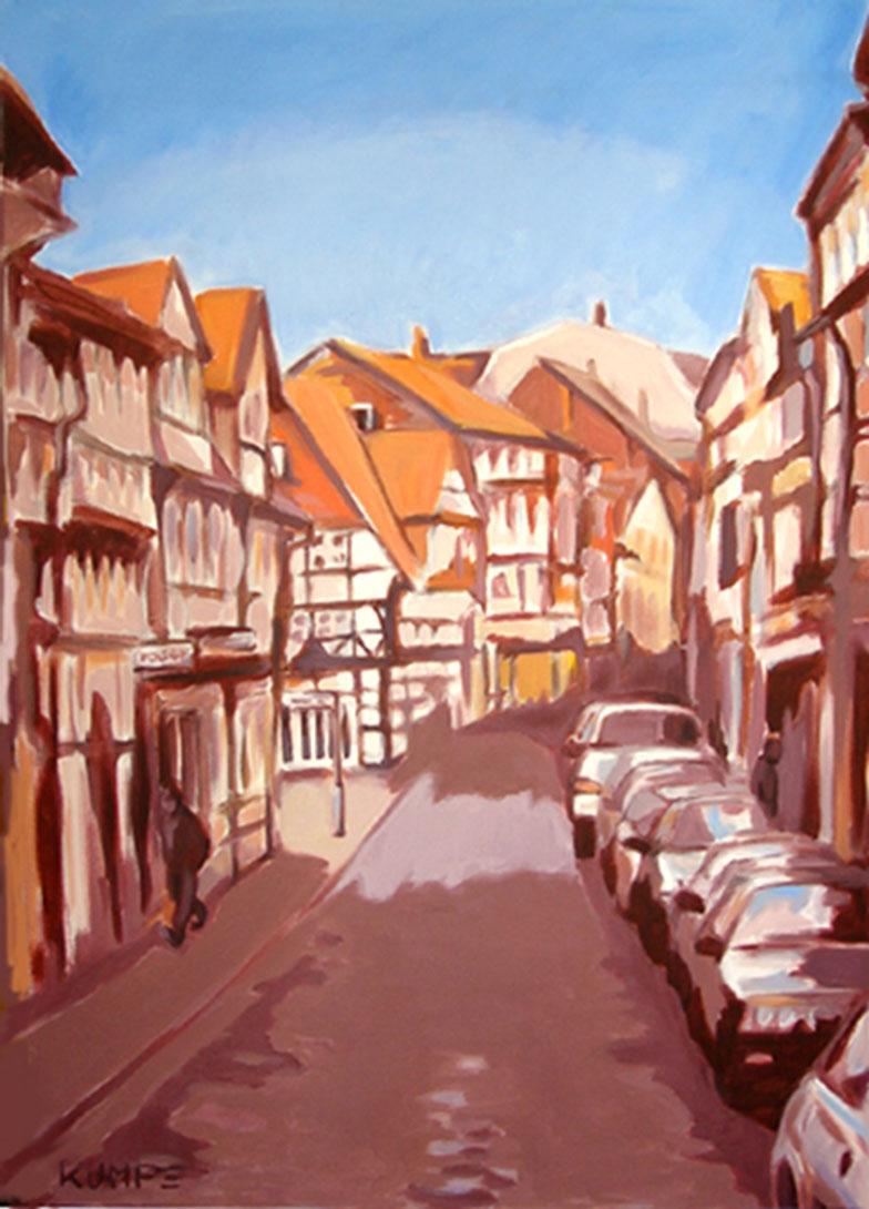 Magniviertel Braunschweig 1 Acryl 100 x 70 cm