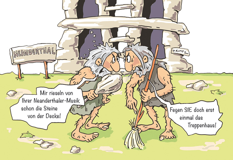 Nachbar im Neanderthal Cartoon