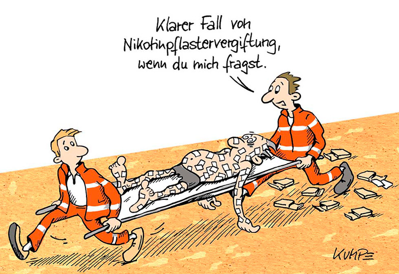 Nikotinpflaster Cartoon