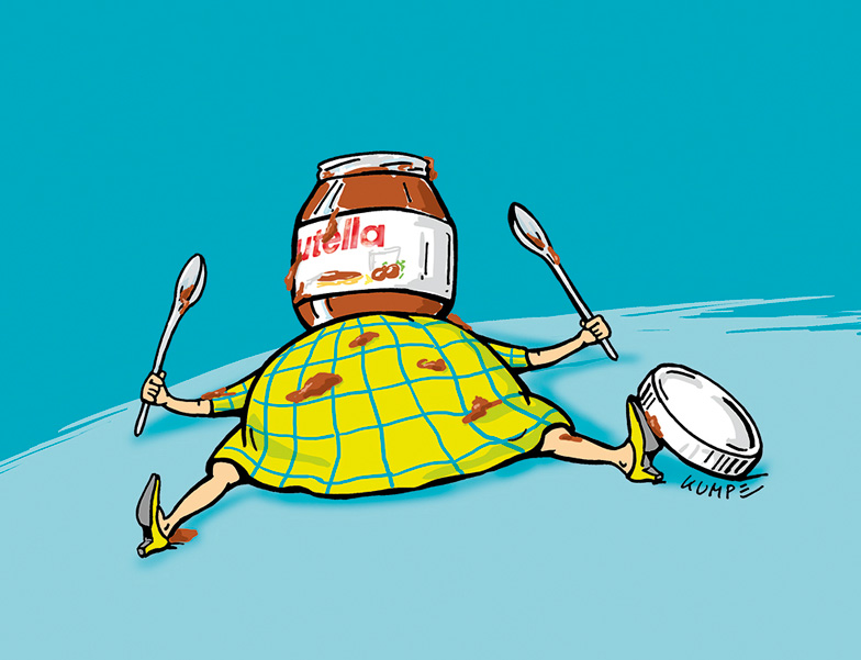 Nutella Sucht Cartoon