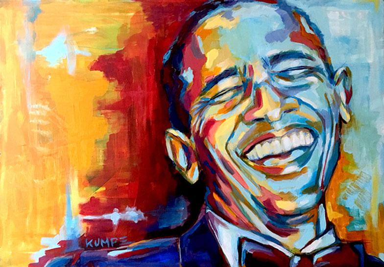 Barack Obama Acryl 70 x 100 cm