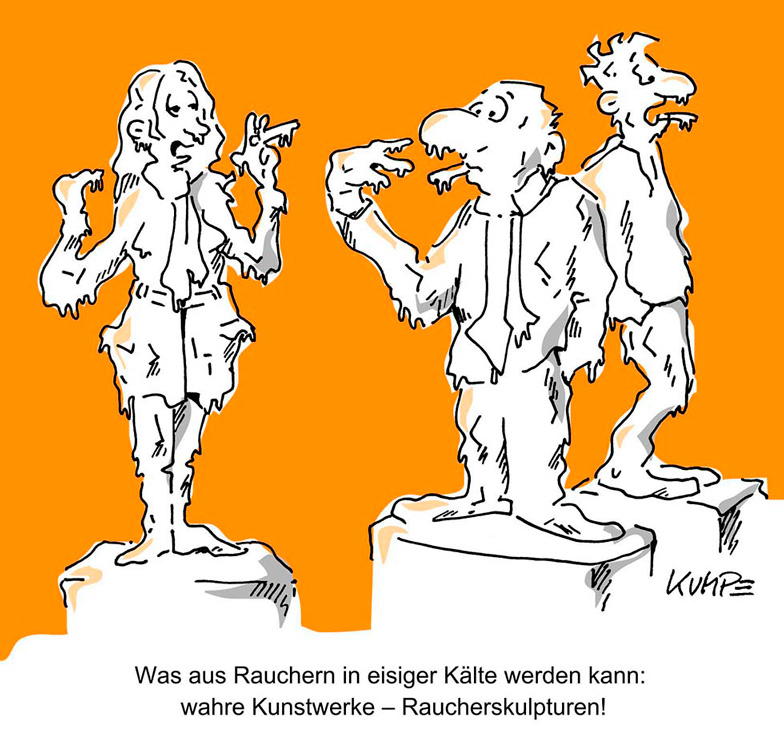 Raucherskulpturen Cartoon