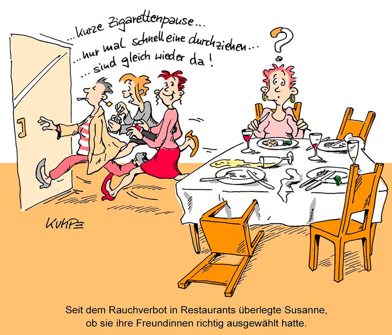 Rauchverbot Cartoon