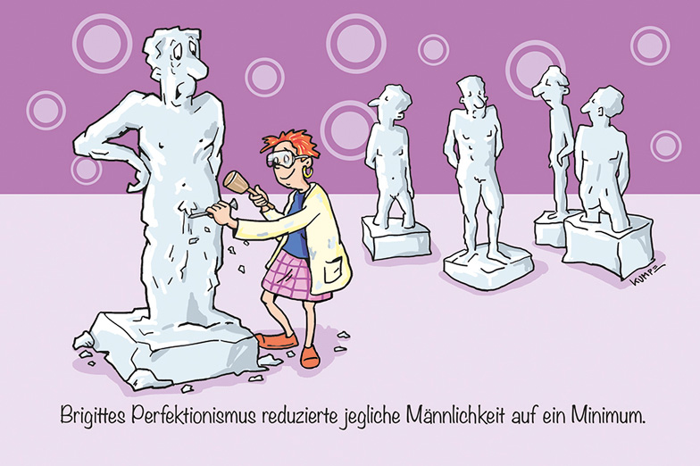 Skulptur Cartoon