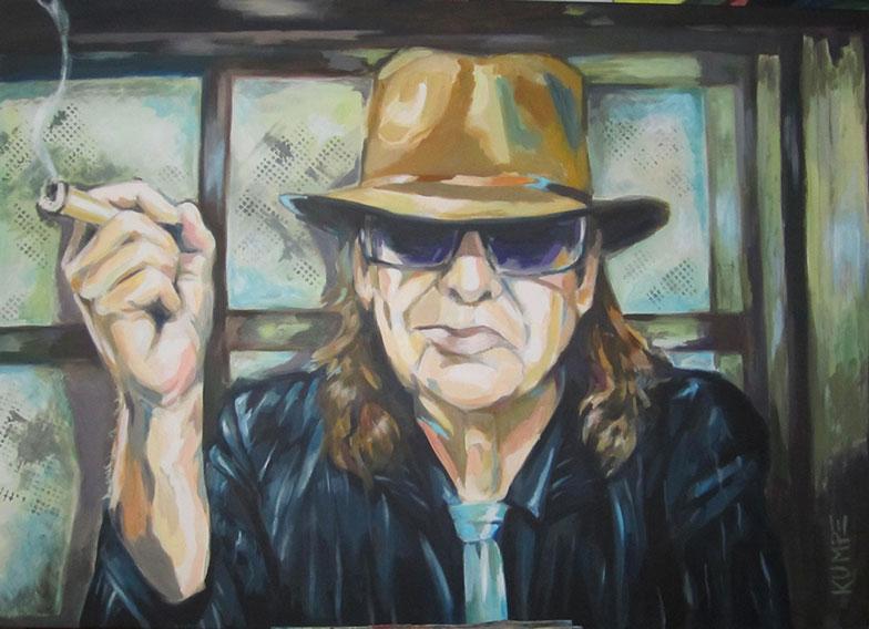 Udo Lindenberg Acryl 80 x 120 cm