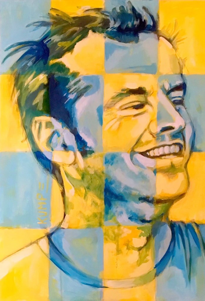 Jack Nicholson Acryl 100 x 70 cm