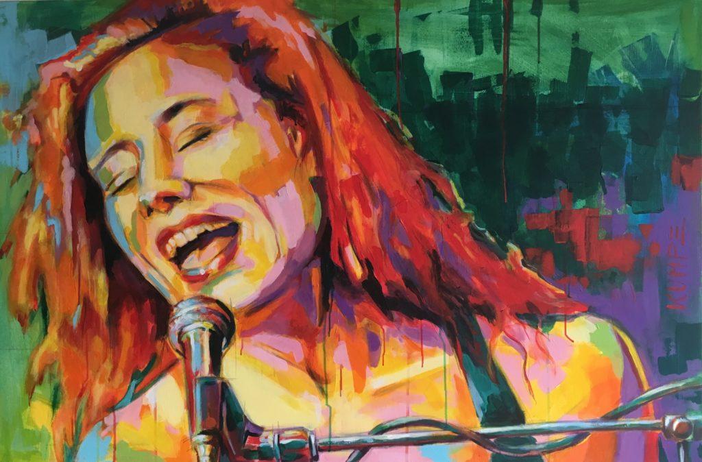 Tori Amos Acryl 80 x 120 cm