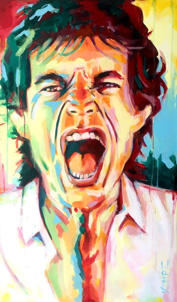 Mick Jagger Acryl 100 x 60 cm