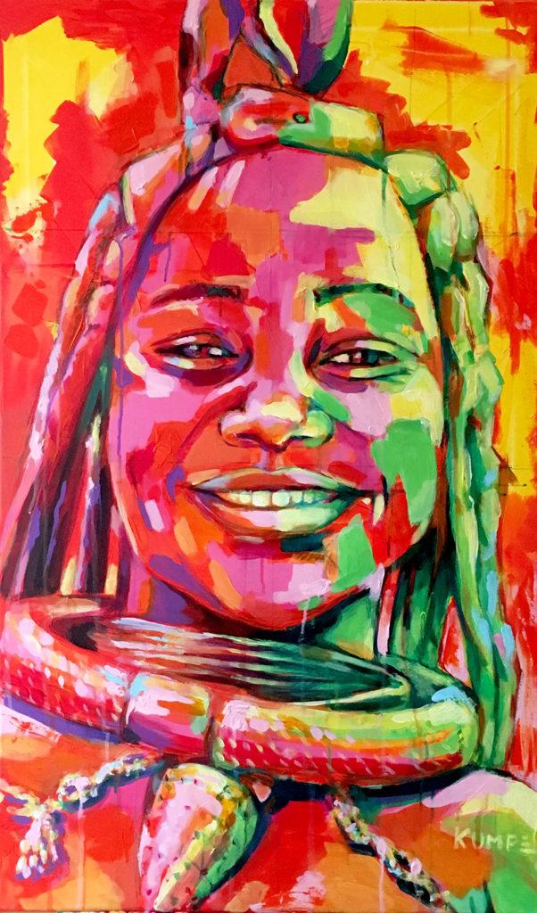 Himbafrau Acryl 100 x 60 cm