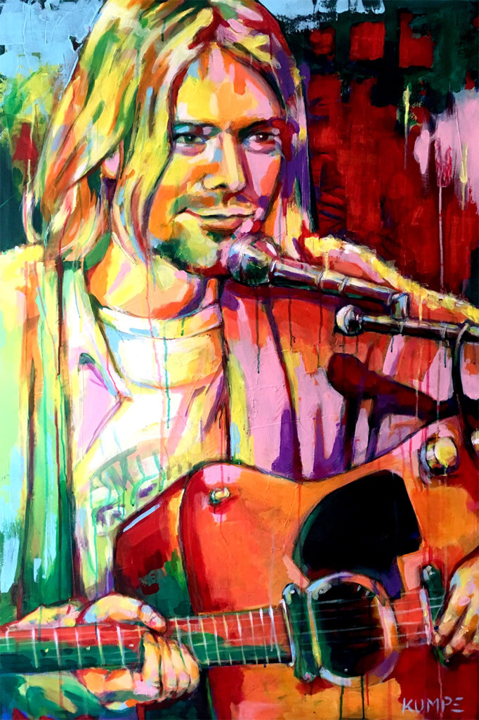 Kurt Cobain Acryl 120 x 80 cm