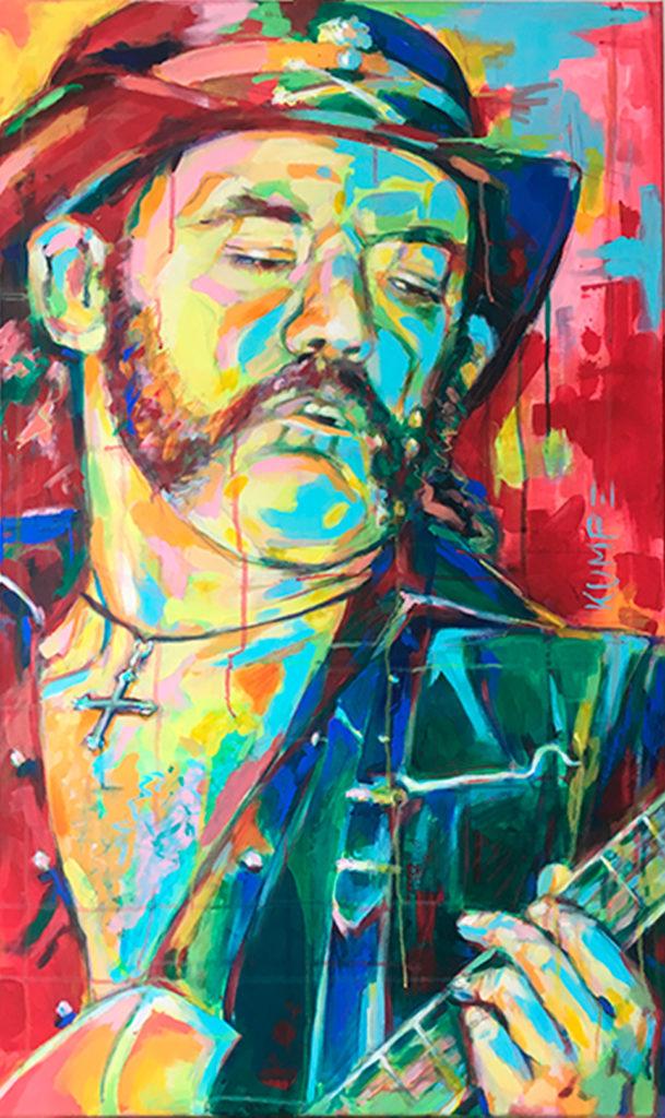 Lemmy Kilmister Acryl 100 x 60 cm