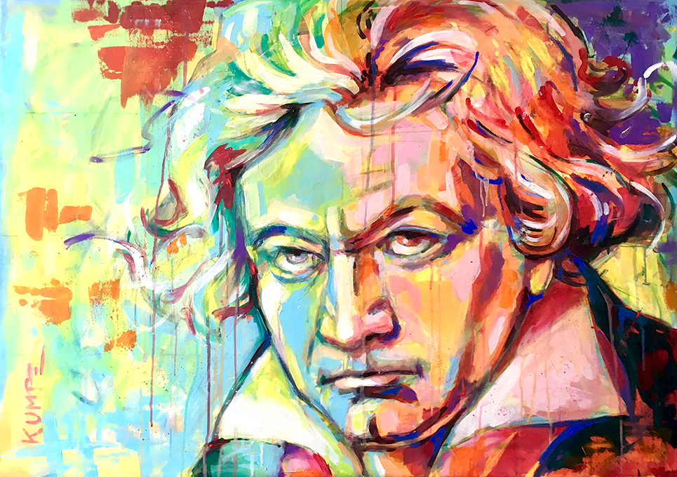 Ludwig van Beethoven Acryl 70 x 100 cm