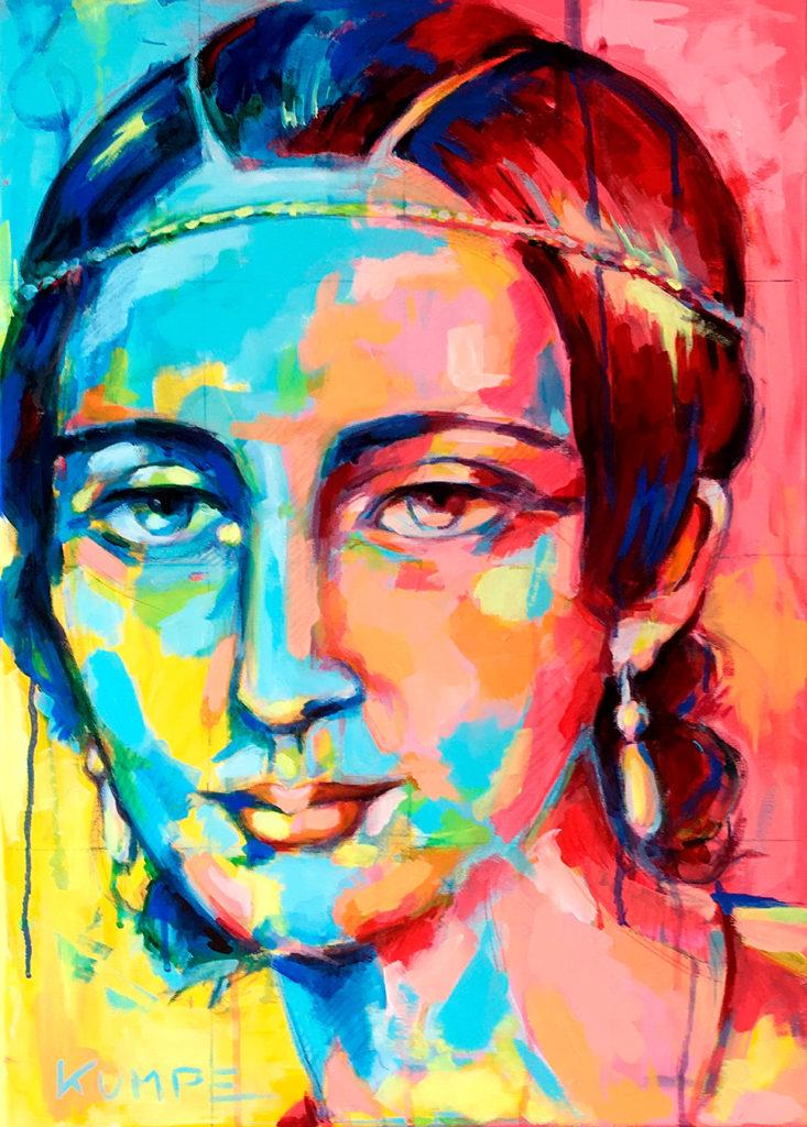 Clara Schumann Acryl 70 x 50 cm