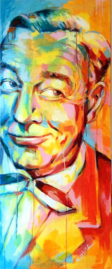 Heinz Ruehmann Acryl 120 x 50 cm