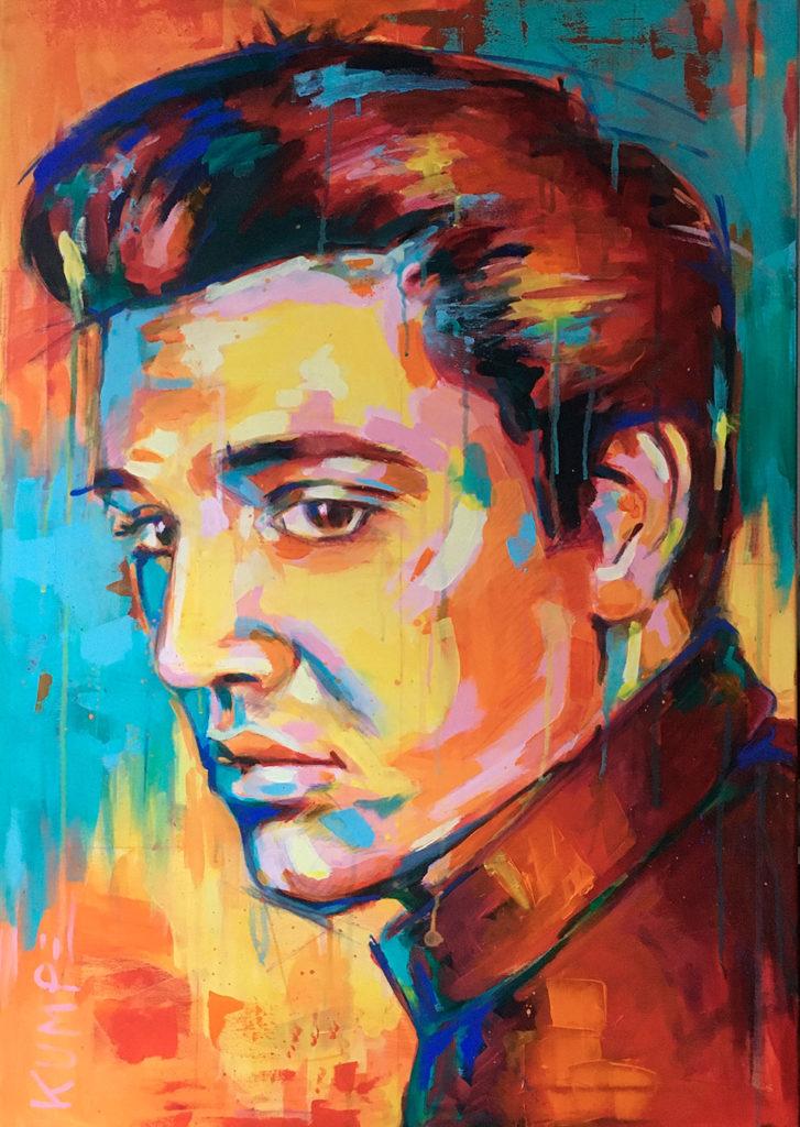 Elvis Presley Acryl 100 x 70 cm