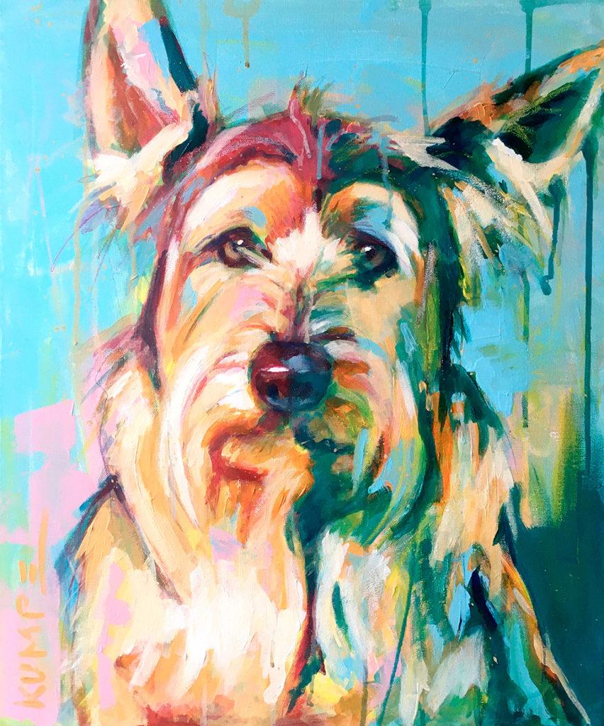 Hund Ludwig Acryl 60 x 50 cm