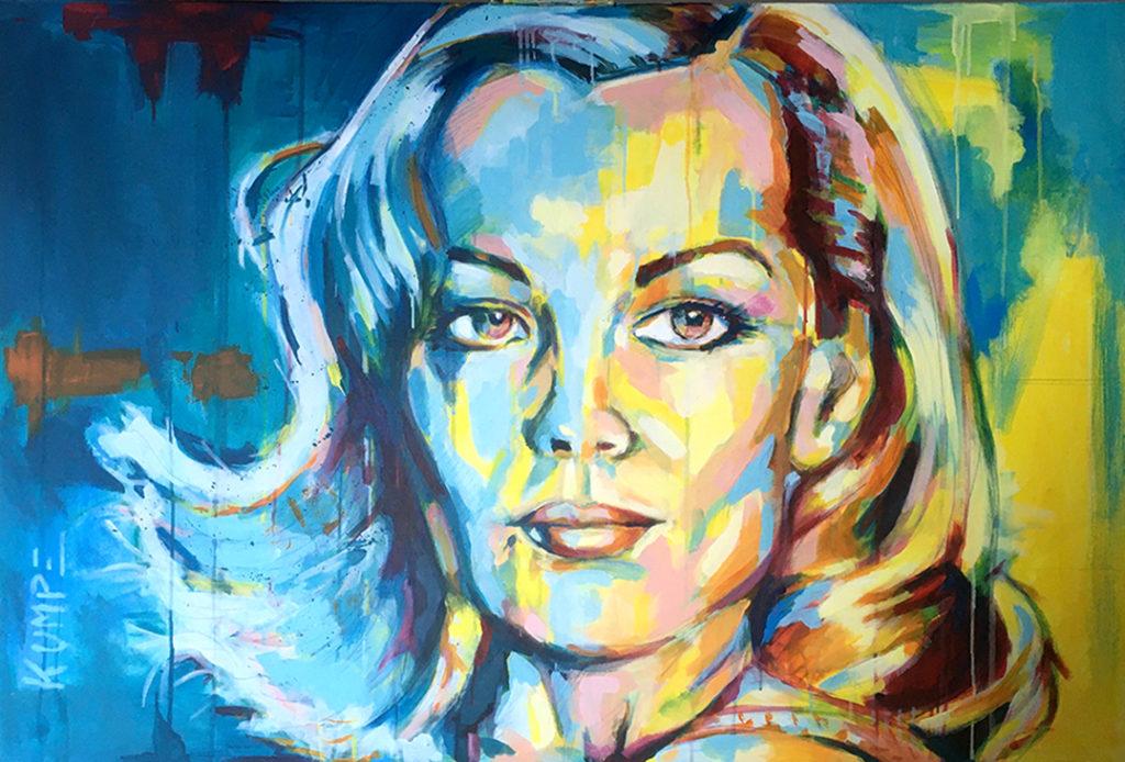 Romy Schneider Acryl 80 x 120 cm
