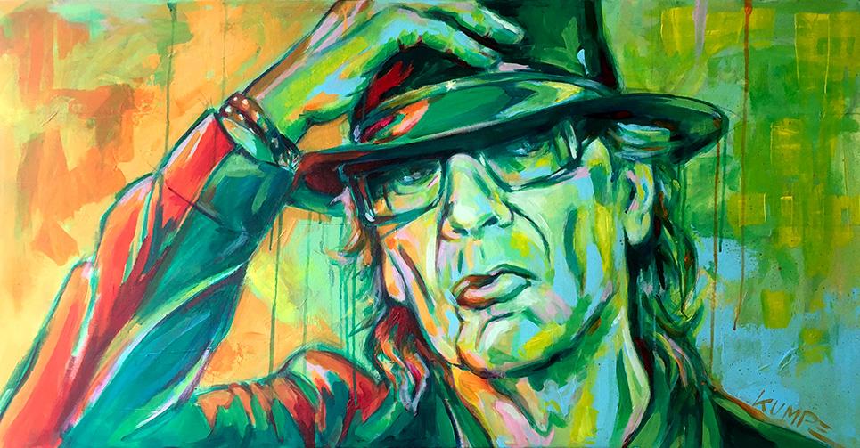 Udo Lindenberg Acryl 50 x 100 cm