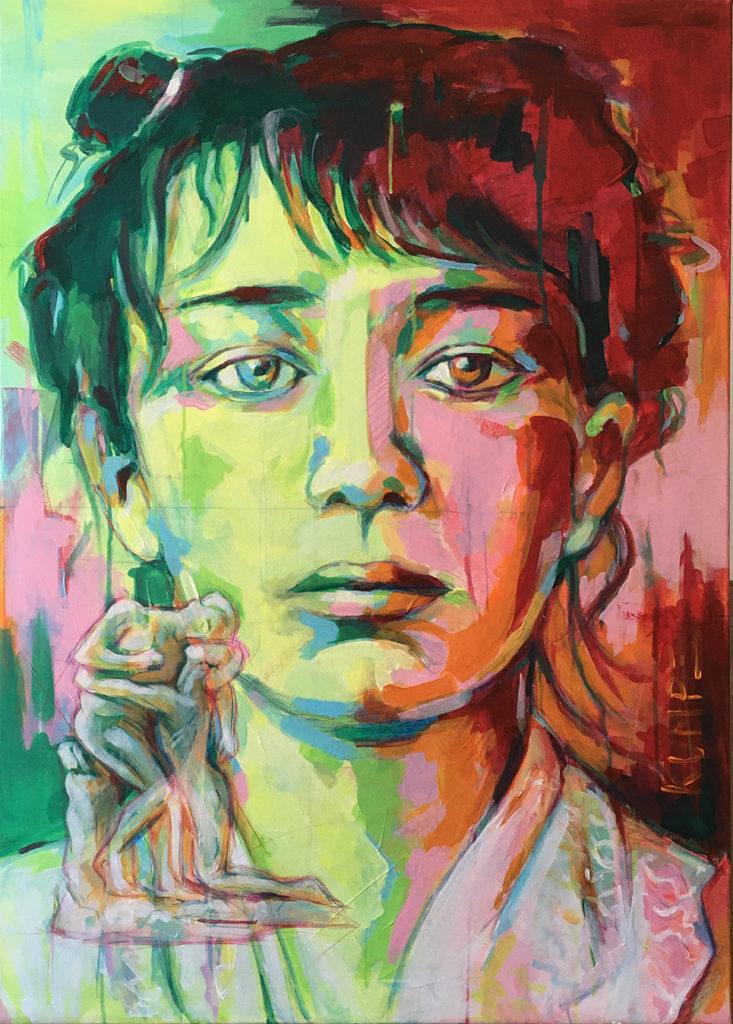 Camille Claudel 2 Acryl 100 x 70 cm