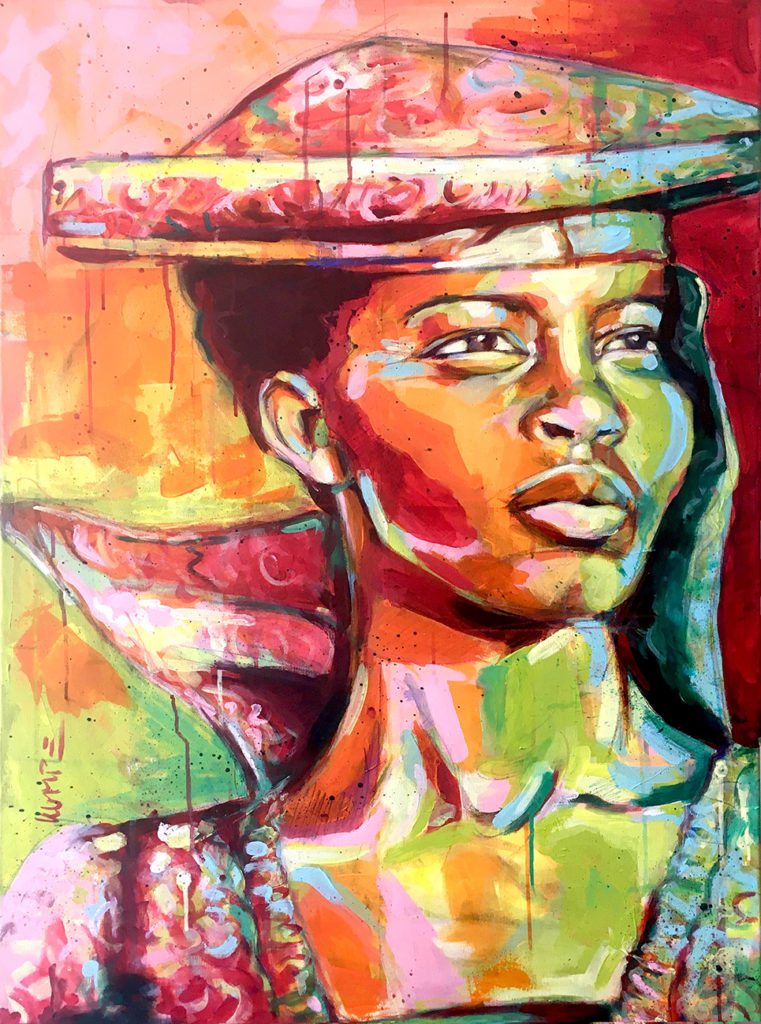 Herero Beauty Acryl 100 x 70 cm