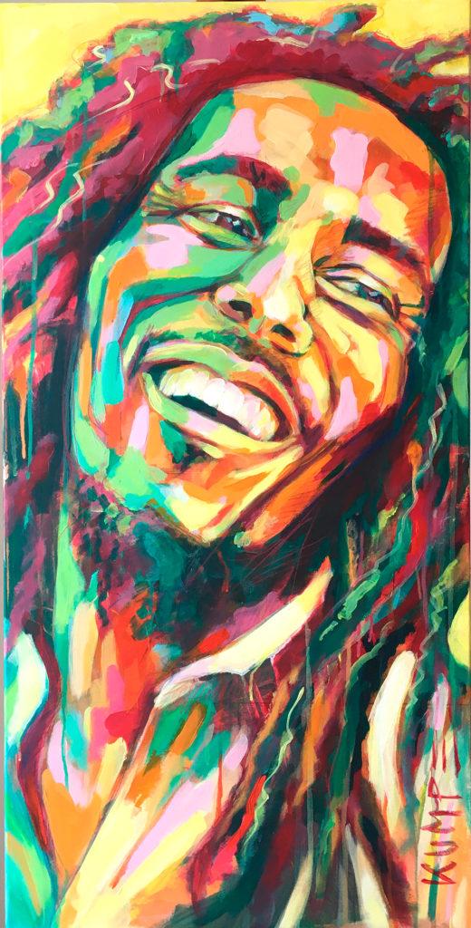 Bob Marley Acryl 100 x 50 cm
