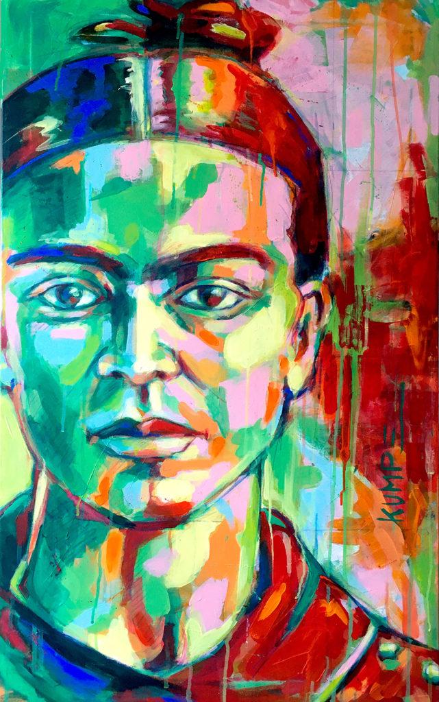 Frida Kahlo Acryl 100 x 60 cm