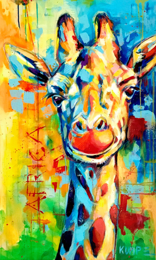 Giraffe 2 Acryl 90 x 60 cm