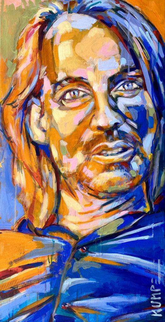 Richard David Precht  Acryl auf Leinwand 80 c 40 cm