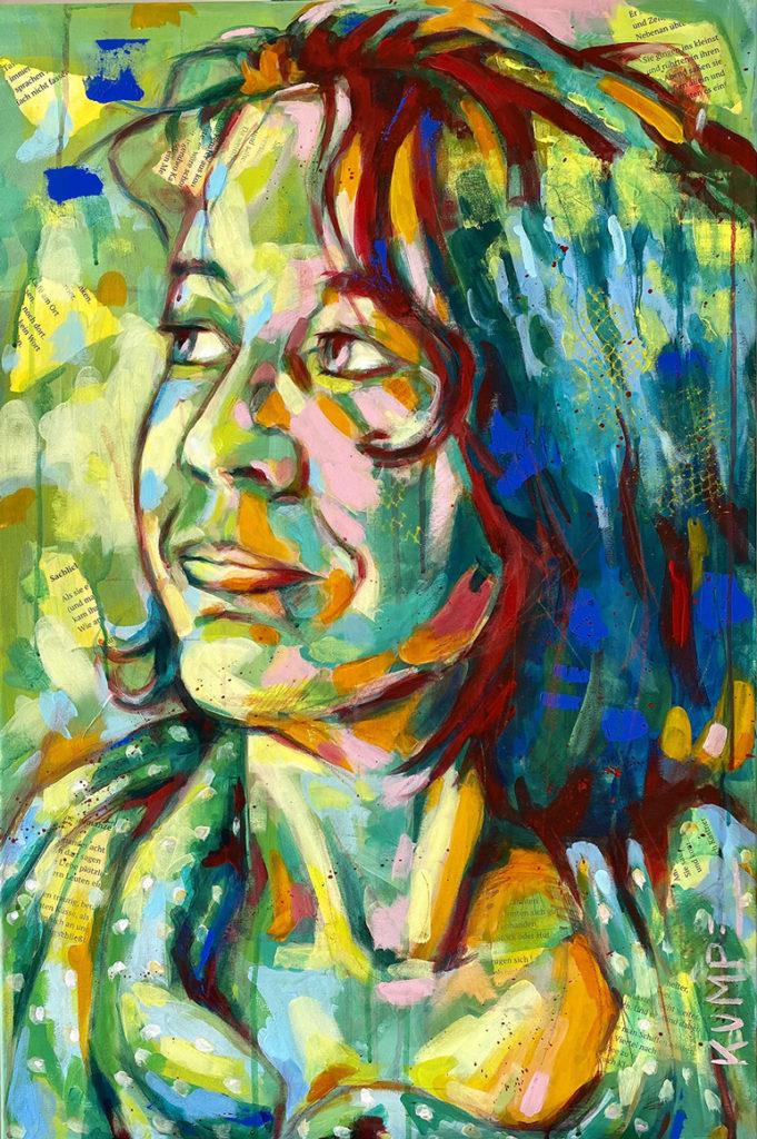 Selbstportrait 2021_2015  Acryl auf Leinwand 90 x 60 cm