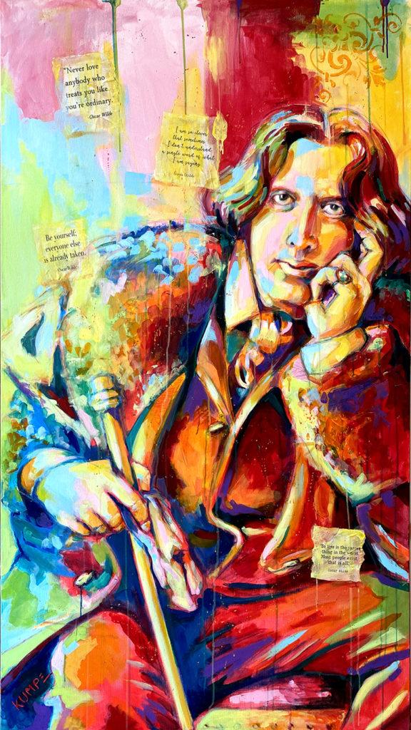 Oscar Wilde  Acryl auf Leinwand 160 x 90 cm