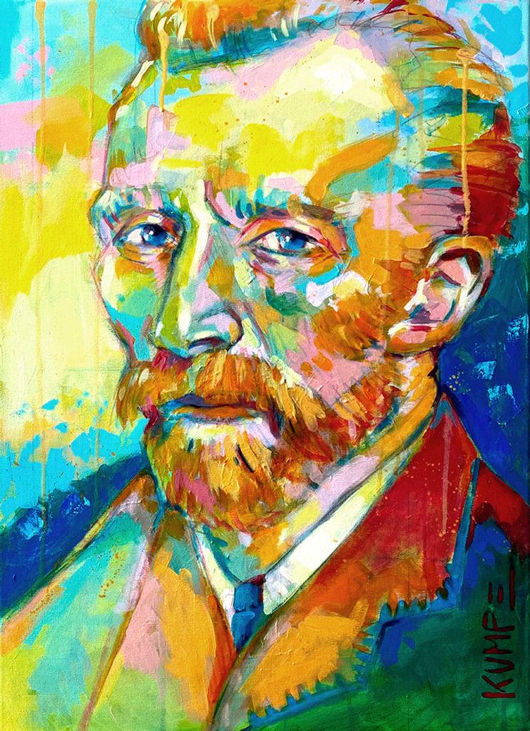 Vincent van Gogh  Acryl auf Leinwand 70 x 50 cm